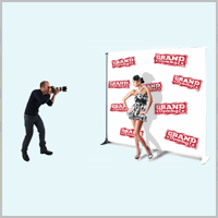 step and repeat vinyl fabric banner grand opening