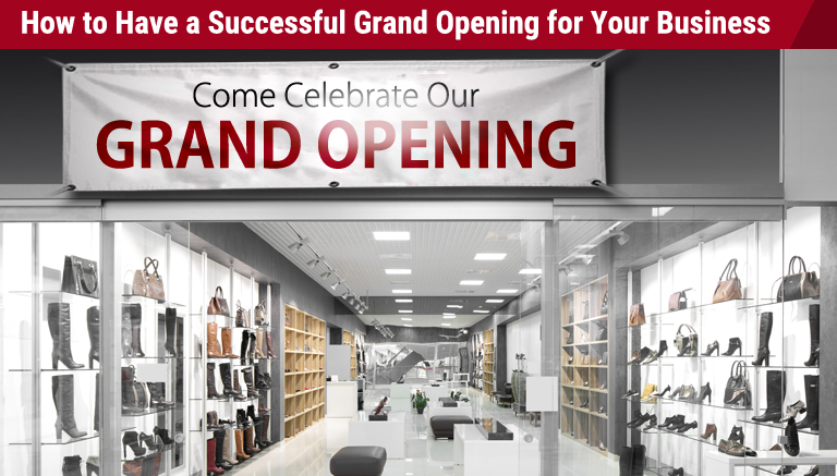 grand opening banner for your business