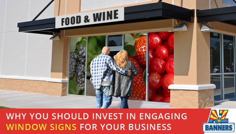 Use custom window sign printing to create engaging window signs for your business