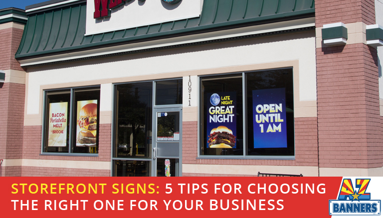Tips for choosing storefront signs