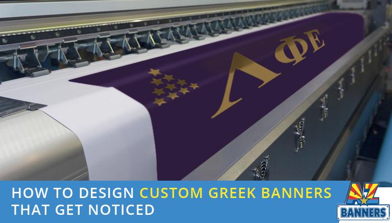 Custom Greek banners near ASU