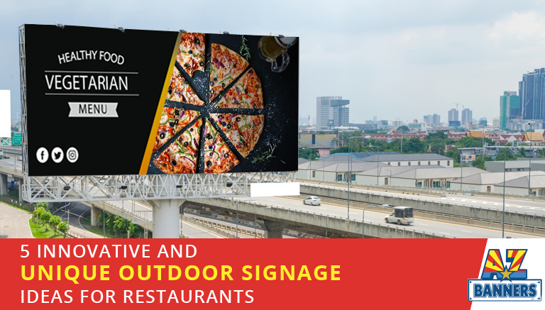 Unique outdoor signage ideas for restaurants