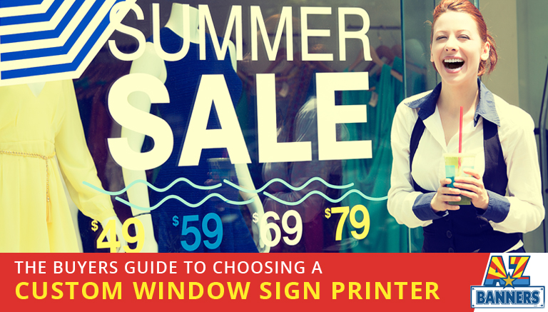 Tips for choosing the right custom window sign printer for high quality custom window signs