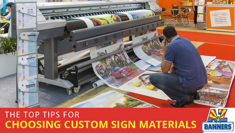 Tips from a durable outdoor sign printer to choose the best custom sign materials